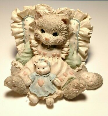 """Vintage Enesco Calico Kittens """"Friends Are Cuddles of Love"""" 1992 P. Hillman"""