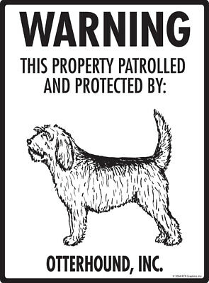 Property protected by Plott Hound dog with attitude metal aluminum sign