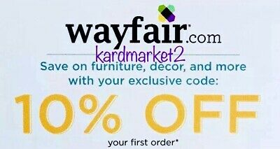 ➡️ SENT FAST! WAYFAIR —10% OFF First Order —Discount Online Code  Exp. 4/30/19
