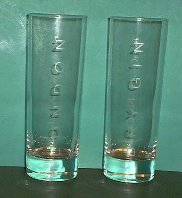 """Set of 2 BEEFEATER 1820 LONDON DRY GIN Tom Collins Glasses 6 1/2"""" Tall"""