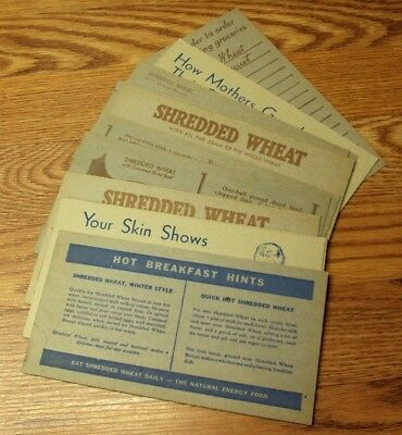 #4 Vtg SHREDDED WHEAT Advertising Cards MIXED SELECTION Lot/12
