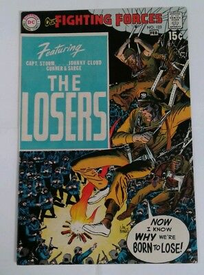 Our Fighting Forces #123 VF- 7.5! The Losers Begin! Joe Kubert Cover!