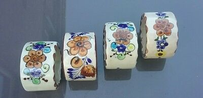 Set of Vintage Ceramic napkin rings by Cat Mexico.
