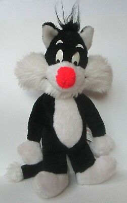 """Vintage 1971 Mighty Star Sylvester The Cat 16"""" Plush Doll"""