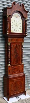 Tewkesbury Longcase Clock Flame Mahogany Grandfather Clock Painted Dial Spurrier