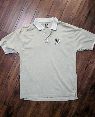Vintage 1997 Warner Bros Marvin The Martian Golfing Polo/ Brand New / Size Large