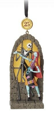 Disney Store 2018 Limited Sketchbook JACK & SALLY LEGACY Ornament - New In Box