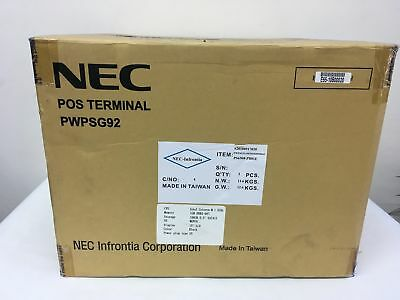 "New NEC Touchscreen POS Terminal PWPSG92 15"" LCD 160GB HDD 1 G SDRAM Memory"