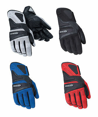 Tourmaster Mens Intake Air Textile Mesh Motorcycle Gloves All Sizes /& Colors