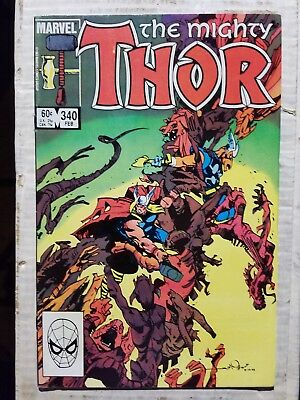 Thor High Grade Lot #340 9.0, 351 9.0, 384 7.0 & Annual 16 9.4  1983-1991 Marvel