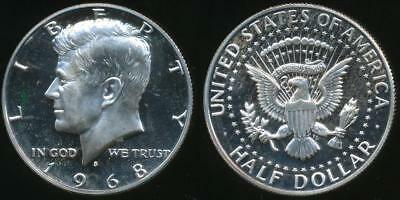 United States, 1968-S Half Dollar, Kennedy (Silver) - Proof