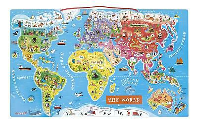 Jura toys j05503 janod magnetic spanish version world map 5986 janod j05504 wooden magnetic world map puzzle english version 92 pieces gumiabroncs Gallery