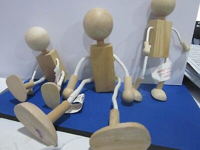 wooden  moveable dolls X 4