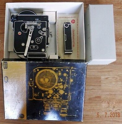 Boxed Bolex H8 Reflex Movie Camera Body Only