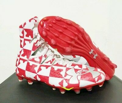 8697dc3da454 Under Armour Highlight MC Football Cleats Maryland Red White 1278768-109 US  9.5