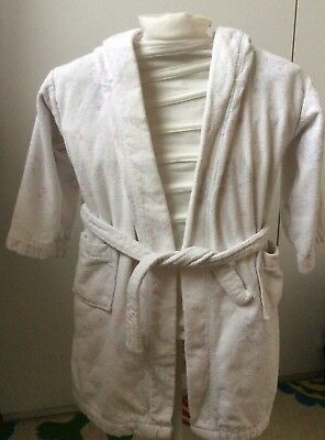 Little White Company Towelling Robe Dressing Gown Size 4 5 Years 100