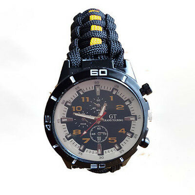 Paracord Watch with Gloucester Regiment (GLR) Colours a Great Gift