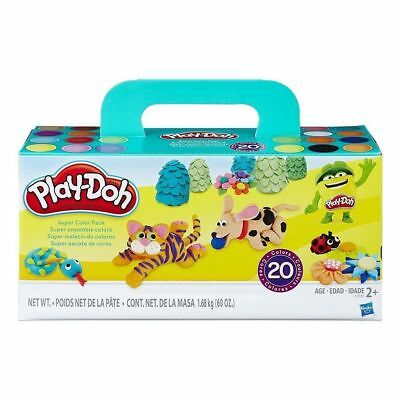 NEW Play-Doh Super Colour 20 Can Pack from Purple Turtle Toys