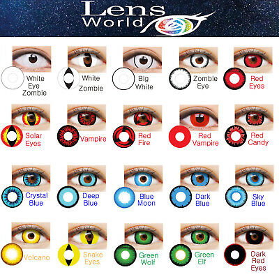 Funny Crazy Zombie Vampire Costume Halloween Korean Cosplay Contact Lenses