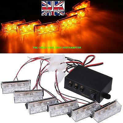 Recovery 3 led x 6 Flashing Beacons Scrap Truck Van Emergency Hazard Warning