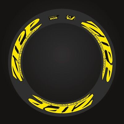 Zipp 808 Speed Weaponry Decal Set For Two Wheel  Black / Yellow