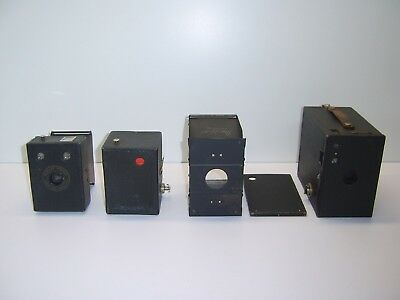 Vintage Kodak Brownie Box Camera's x 2. Popular Brownie 620 and No. 2A. c1920's