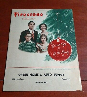 1953 FIRESTONE TIRE CHRISTMAS TOY and GIFT CATALOG