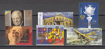 Ukraine MNH** 2014 Mi. 1398,1406,1411,1414,1415,1417 Lot 2014 I