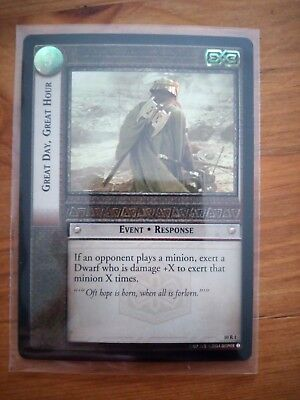 Lord Of The Rings CCG Foil Card 10.R1 Great Day, Great Hour