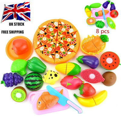 Teens Play Food Cut Vegetables Set Kids Pretend Role Play - Velcro Toy Kitchen