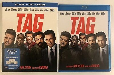Tag Blu Ray Dvd 2 Disc Set + Slipcover Sleeve Free World Wide Shipping Ed Helms
