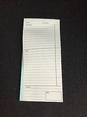 2 Part , Restaurant Cafe Waiter Food Order Pads X 10 Pads