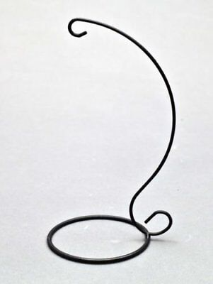 Crystal Orb friendship ball Holder, stand Black finish by Amelia Art