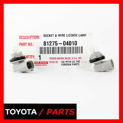TOYOTA Genuine 81275-04010 License Lamp Socket and Wire