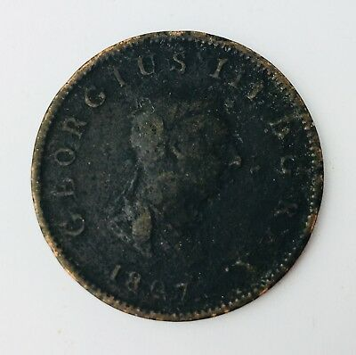 1807 George III Half Penny 1/2 Great Britain Halfpenny Coin British Copper Coin