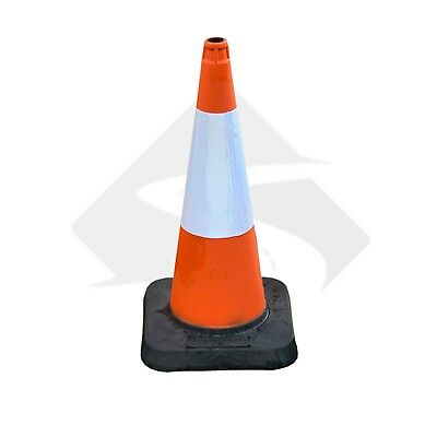 750 mm Heavy Duty Large Traffic Cones - UK Made & Brand New