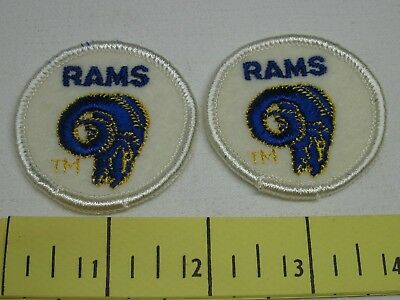 Los Angeles Rams Vintage Two Inch Patches 1970's New Old Stock  Two of Cloth