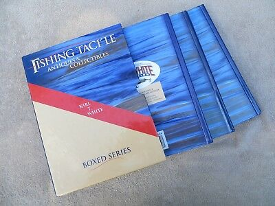 """Karl T White Boxed Series """"fishing Tackle-Antiques & Collectibles"""" 3 Book Set!"""