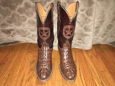 6779ff7a46f BLACK JACK MENS Alligator Brown Cowboy Boots 9 D Custom Hornback Head Cut