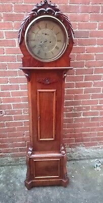 Scottish Mahogany 8 Day Striking Drumhead Longcase  Clock