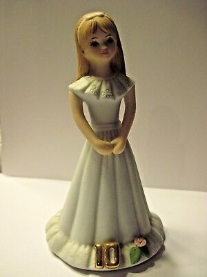 Enesco Growing Up Girl10Th Birthday Doll Figurine - Light Brown Hair