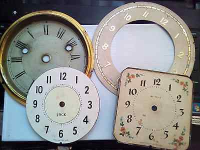 Vintage Clock Dials And Chapter Ring Spares/ Repairs