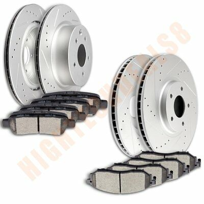 Brake Discs Rotors With Ceramic Pads For 2010 2011 2012-2014 370Z Front Rear