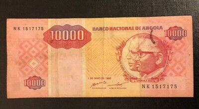 ANGOLA 10,000 (10000) Kwanzas, 1995, P-137, World Currency, RARE