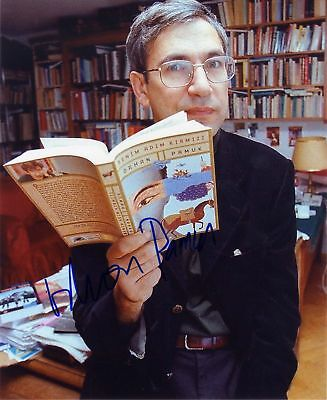NOVELIST Orhan Pamuk NOBEL PRIZE autograph, signed photo