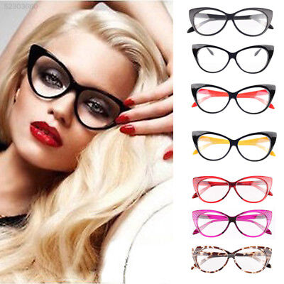 EB18 Retro Sexy Women Fashion Eyeglasses Frame Cat Eye Clear Lens Ladies Glasses