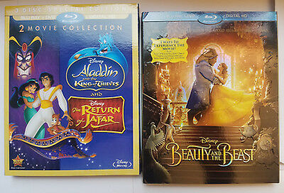 Return of Jafar/Aladdin King Thieves/Beauty & Beast Blu-ray+Slipcover No Digital