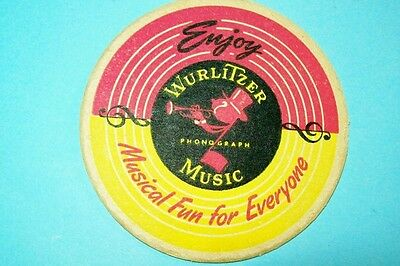 Vintage 1940s/1950s Wurlitzer Jukeboxes Bar Coaster With Johnny One Note
