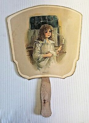 J. Winegar & Sons Advertisement Girl in Nightgown Hand Fan