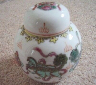 Chinese Dragon porcelain vase-ginger jar with cover